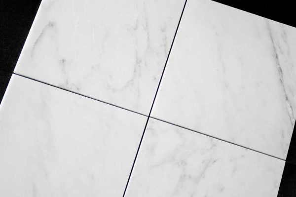 Calacatta Deste Honed 12x12 White Natural Stone Marble Field Tile 002