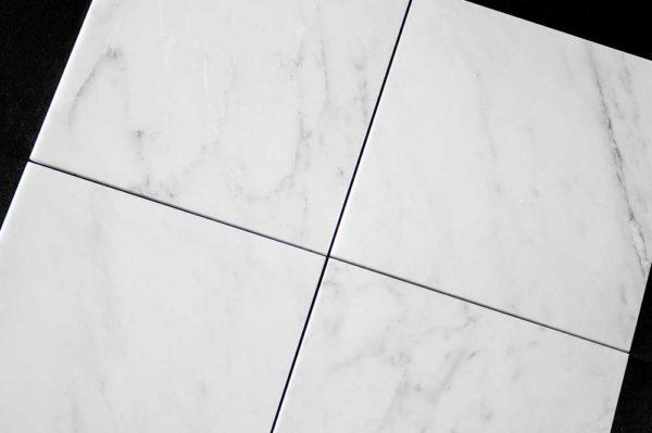 Calacatta Deste Honed 12x12 White Natural Stone Marble Field Tile 002