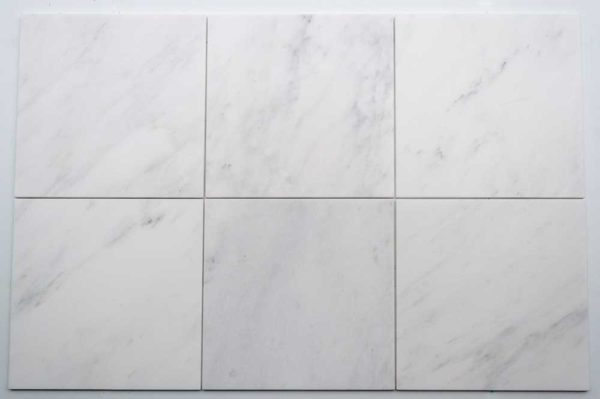 Calacatta Deste Honed 12x12 White Natural Stone Marble Field Tile 004