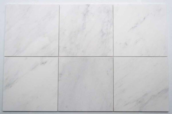 Calacatta Deste Honed 12x12 White Natural Stone Marble Field Tile 004