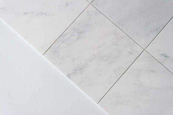 Calacatta Deste Honed 12x12 White Natural Stone Marble Field Tile 005