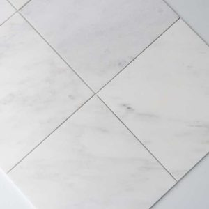 Calacatta Deste Honed 12x12 White Natural Stone Marble Field Tile 006