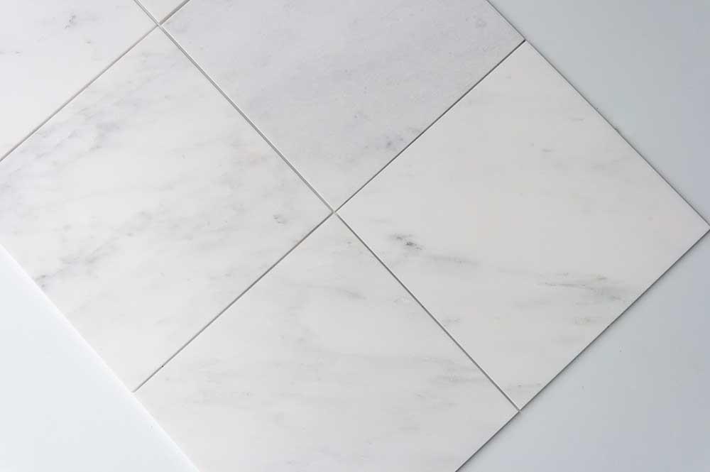 Calacatta Deste Honed 12x12 White Natural Stone Marble Field Tile 006