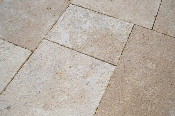 Coteaux Vieux Satin Brushed Be19 8 Size Pattern Natural French Stone Limestone Field Tile 002