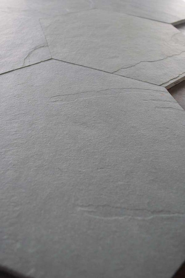 Caithness Graphite Satin Cleft 12x12 Heaxagon 003